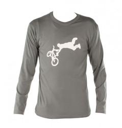 Longsleeve Langarmshirt BMX Fahrrad Hemd Downhill Shirt khaki