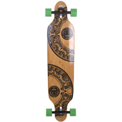 Longboard Slick Carver Drop Through 106 cm Freeride Skateboard Cruiser  Bild 5
