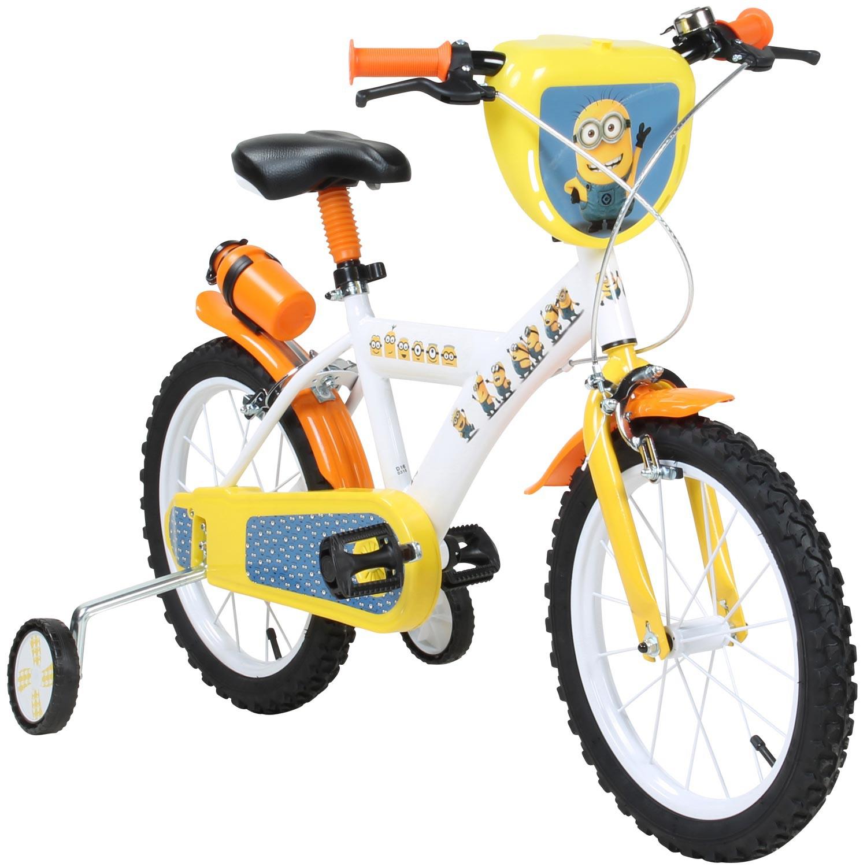 bicyclette v lo d 39 enfants 16 pouces minions d 39 enfant avec. Black Bedroom Furniture Sets. Home Design Ideas