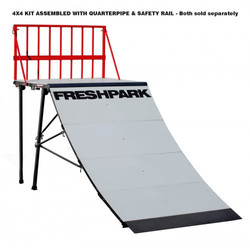 Freshpark 4 X 4 Quarter Pipe 4 Foot Extension Kit Erweiterung für Quarterpipe