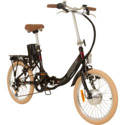 20 Zoll Galano Hopper Elektrofaltrad schwarz Pedelec Klappbar E-Bike