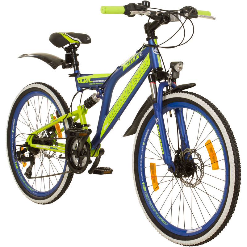Galano Adrenalin DS 24 Zoll MTB Fully Mountainbike STVZO Jugendfahrrad