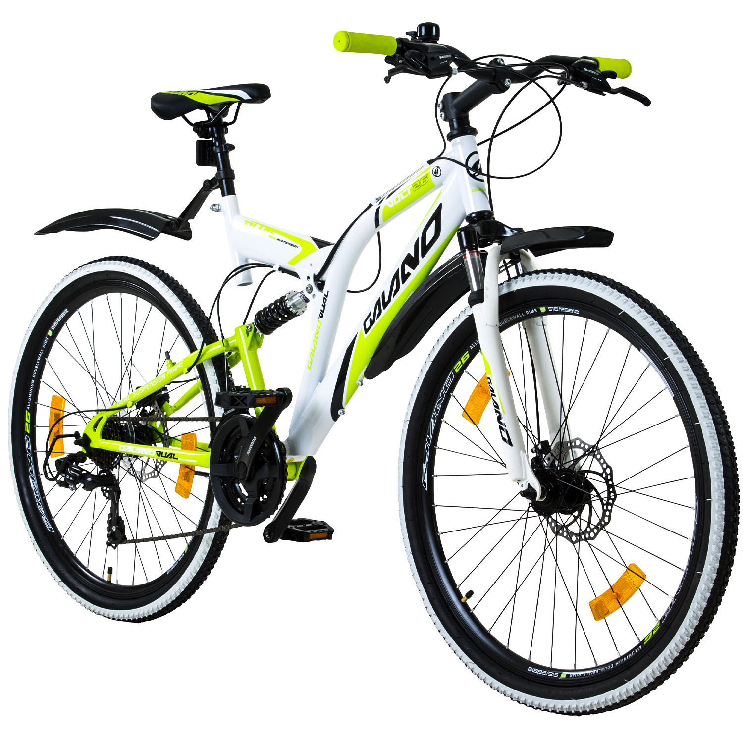 mtb mountain bike 26 inches fully galano volt ds boys 39 bicycle 26 disc brakes ebay. Black Bedroom Furniture Sets. Home Design Ideas