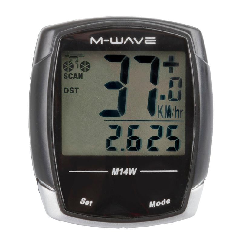 M-WAVE M14W Fahrradcomputer Tacho Fahrrad Funkübertragung