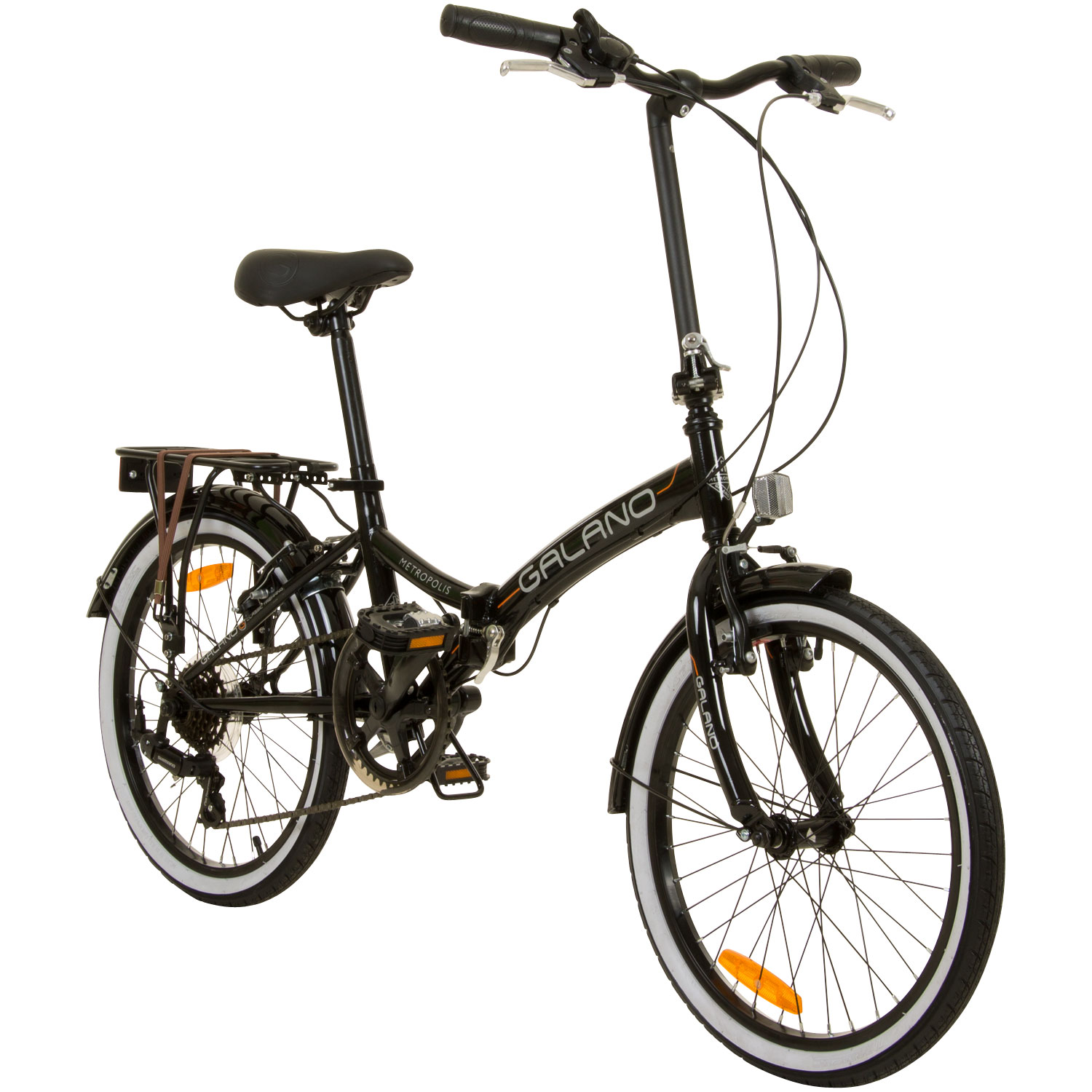 klapprad 20 zoll faltrad city bike galano metropolis. Black Bedroom Furniture Sets. Home Design Ideas