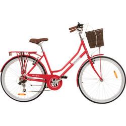 Galano Belgravia 26 Zoll Cityrad 6 Gang Damenfahrrad Mädchenrad Citybike mit Korb Bild 7