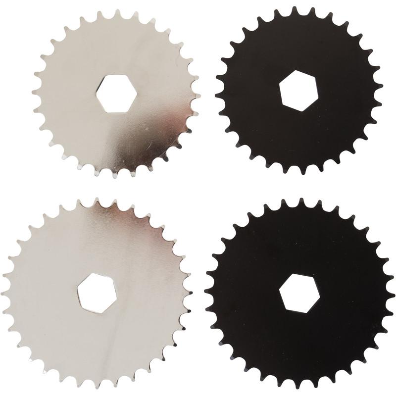 Hi5 Kettenblatt 32 oder 28 Zähne, schwarz oder silber, Hi-Ten Stahl Fahrrad für einteilige Kurbeln
