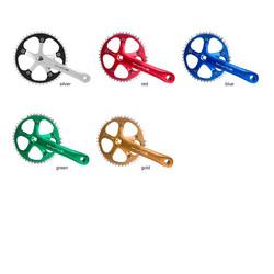 M-Wave Kettenradgarnitur 1-Gang Aluminium 46 Zähne Fahrrad Antrieb