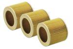 3 Patronenfilter Lamellenfilter passend für Kärcher A 2204A A 2254 2101 A 2201 6.414-552.0 64145520