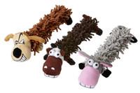 Welpenspielzeug Plüsch Hund, Esel + Kuh
