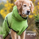 Hunde Bademantel Dryup Cape, Sonderfarbe Kiwi