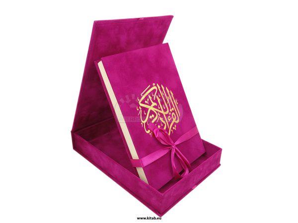 Al-Quran Al-Karim- AR -14x20CM - Spezial  Papier- Geschenk Box -14x20 - مصحف علبة مخمل هدية