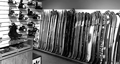 Exklusives Snowboard Shopping