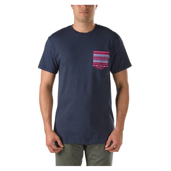 Vans Herren T-Shirt Native Stripe Pock  - Navy 1