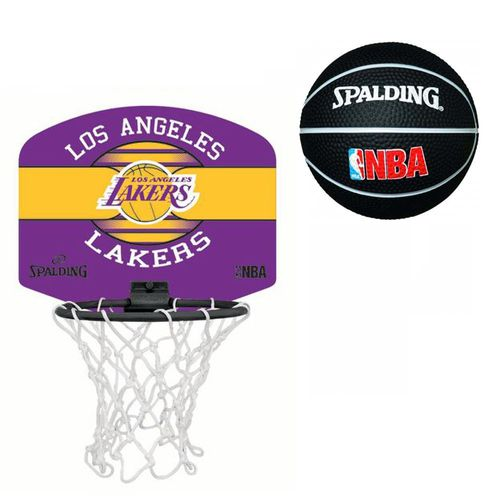 Spalding NBA Basketball Sportskanone Miniboard Minikorb L.A. Lakers inkl. Soft-Ball