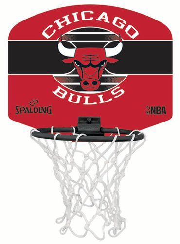 Spalding NBA Sportskanone Basketballkorb Miniboard Chicago Bulls & Soft Basketball – Bild 2
