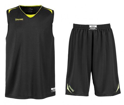 Spalding Sportskanone Attack Basketball Shorts & Trikot Kinder Set Schwarz-Gelb