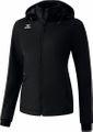Erima Norwich Damen Softshell Jacke mit Kapuze Windjacke Schwarz 001