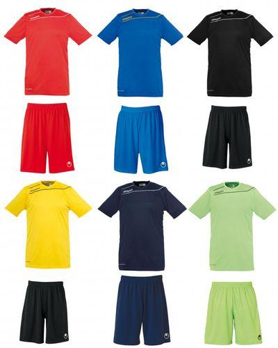 Uhlsport Santander Pro Herren Trikot & Shorts Set Rot Blau Gelb Grün Schwarz – Bild 1