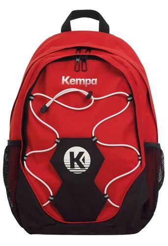 Kempa Taifun Pro Handball Rucksack mit Ballnetz Schwarz Rot Blau – Bild 2