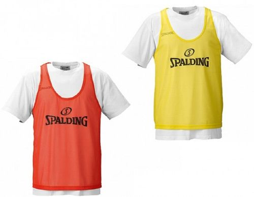 Spalding Plano Set 10 Basketball Trainingsleibchen Markierungshemden Gelb Orange – Bild 1