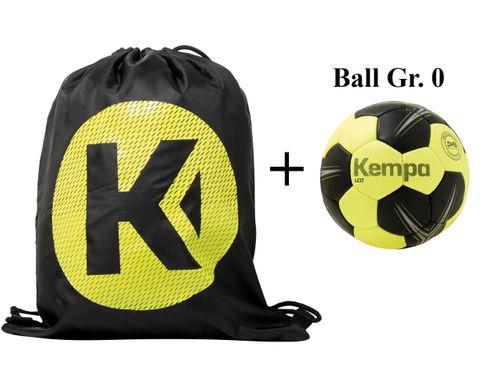 Sportskanone Kempa Tricky Handball Set Balltasche inkl. Ball mit DHB Siegel – Bild 2