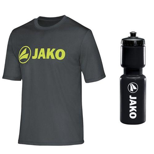 Sportskanone Fitness Set JAKO Funktionsshirt und Wasserflasche – Bild 2