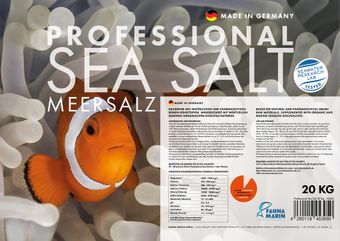 Professional Sea Salt - 20kg Carton for professional reef keepers