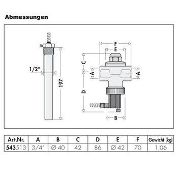 Thermische Ablaufsicherung 3/4 bis 100 kW Heizungsventil für Heizung – Bild $_i