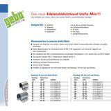 Edelstahl Dichtband 108 - 118 mm Unifix Mini Dichtschelle