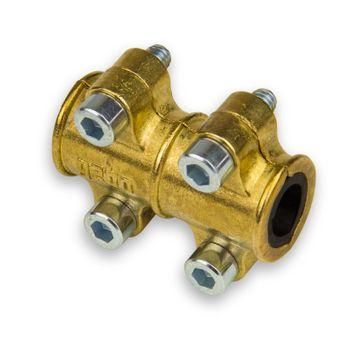 Dichtschelle / Reparaturschelle 12mm Typ MD Messing Kupferrohr – Bild $_i