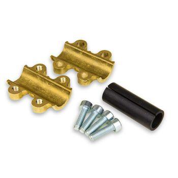 Dichtschelle / Reparaturschelle 18mm Typ MD Messing Kupferrohr – Bild $_i