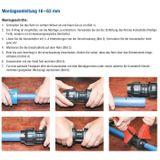 Gebo PE Rohr Anschluß 20 mm x 3/4 Zoll Aussengewinde Verschraubung Übergang