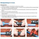 PE Rohr Endkappe Verschraubung 50 mm 1 1/2  Zoll Endstopfen