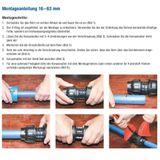 PE Rohr T-Stück Verschraubung 40 x 40 x 40 mm Abzweig Fitting