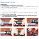 PE Rohr Winkel Verschraubung 20mm 1/2  Rohrwinkel