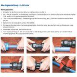 PE Rohr Winkel 32mm x 1 Zoll AG Verschraubung Rohrwinkel Klemmverbinder Fitting