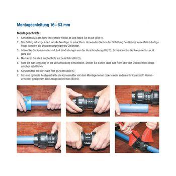 """PE Rohr Winkel Verschraubung 20mm x 1/2"""" Innengewinde – Bild $_i"""