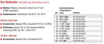 Temperguss Klemmverbinder 1 1/2 Zoll AG x 51,0 mm Siederohr – Bild $_i