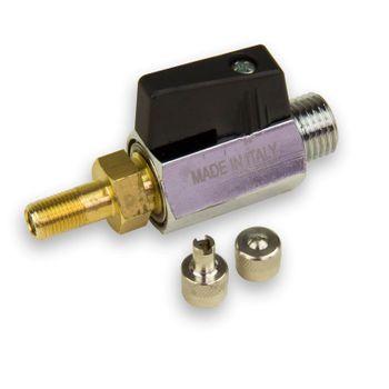 Lufthahn / Lufthähnchen 1/4 Zoll mit Autoventil für Druckkessel – Bild $_i