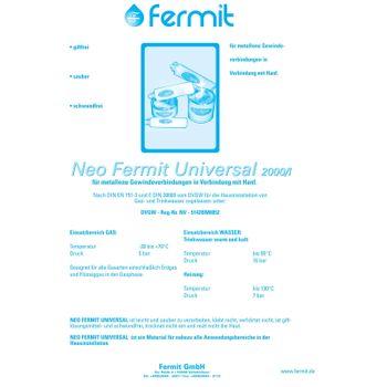 Neo Fermit Dichtpaste 450g Gewindedichtungspaste Wasser Heizung – Bild $_i