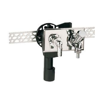 PE Unterputzsiphon mit Geräteventil waagerecht DN 40 / 50 mm