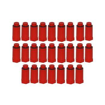 25x Baustopfen 1/2 Zoll rot Abdrückstopfen mit Kunststoffgewinde – Bild $_i