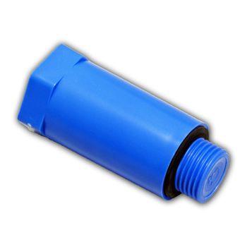 25x Baustopfen 1/2 Zoll blau Abdrückstopfen mit Kunststoff-Gewinde – Bild $_i