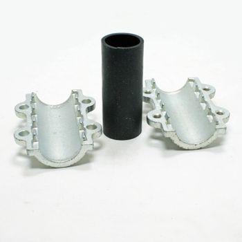 Temperguss Reparaturschelle Dichtschelle DN32 1 1/4 Zoll (42,4 mm) – Bild $_i