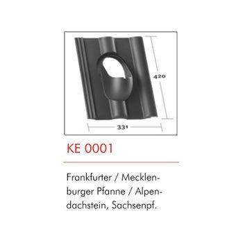 Klöber Entlüfter Belüfter Grundplatte DN100 Rot Frankfurter Pfanne – Bild $_i