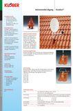 Klöber Dachdurchführung DN100 Rot PVC für Antennen Sat