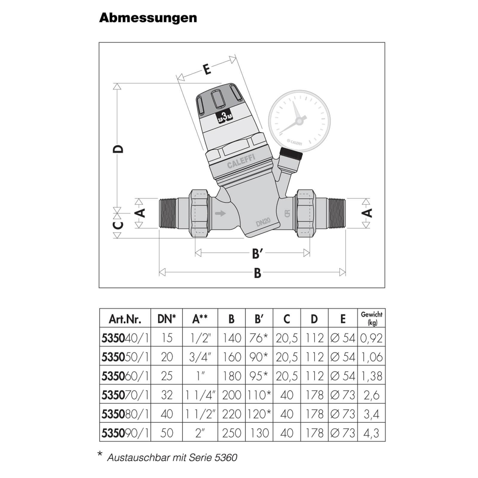 """Druckminderer 1/"""" Zoll Druckreduzierer DN25 Druckregler Druckventil Manometer"""