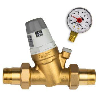 Caleffi Druckminderer 1 Zoll DN25 Druckregler für Wasser mit Manometer – Bild $_i