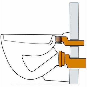 Anschlussgarnitur / Ablaufgarnitur DN110 etagiert Wand WC – Bild $_i